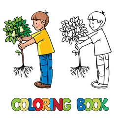Boy the gardener vector image