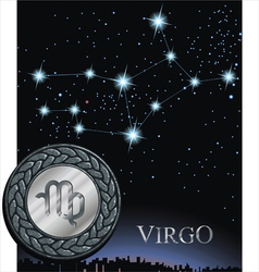 Virgo zodiac sign virgin vector