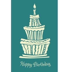 Stylized large birthday cake vector