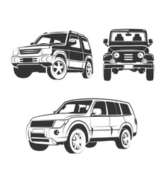 Elements for off-road suv car emblems vector