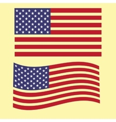 Set the us flag bright country nation patriot vector