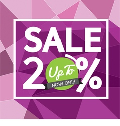 Sale uo to 20 percent banner vector