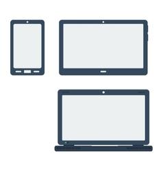 Icon set gadgets vector