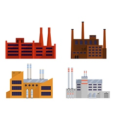 Factory color set vector