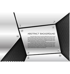 abstract metal sheet hexagon mesh vector image