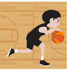 basketball player cartoon vector image