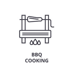 bbg cooking line icon outline sign linear symbol vector image vector image