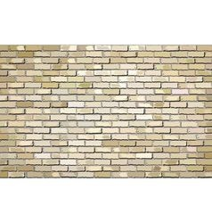 Beige brick wall with effect - vector image vector image