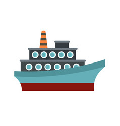 Big ship icon flat style vector
