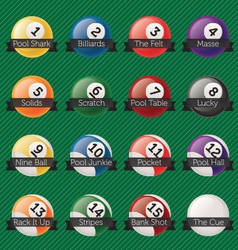 Billiard Balls Banners vector image