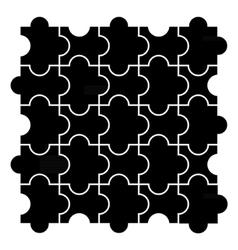 Black puzzle pieces vector