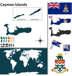 Cayman Islands map world vector image