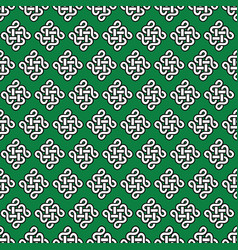 celtic irish knots seamless in white with black vector image vector image