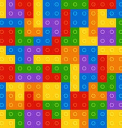 Color constructor blocks seamless pattern vector image vector image