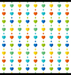 colorful heart shape pattern design background vector image