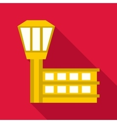 Control tower at airport icon flat style vector