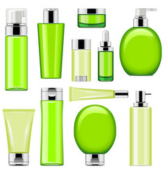 cosmetic packaging icons set 10 vector image