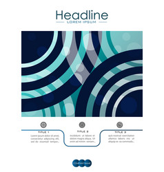 cover design a4 with blue abstract lines and vector image vector image