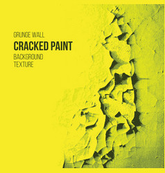 cracked paint grunge wall texture vector image