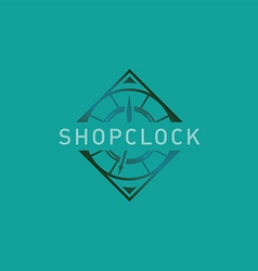 Creative abstract logo for store hours vector