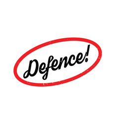 Defence rubber stamp vector