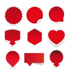 empty label red sticker vector image vector image