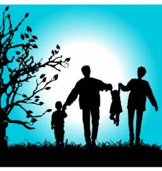 family nature walks vector image vector image