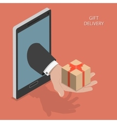 Gift delivery isometric vector