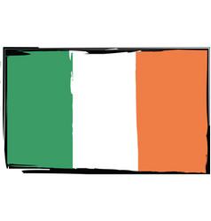 grunge ireland flag or banner vector image