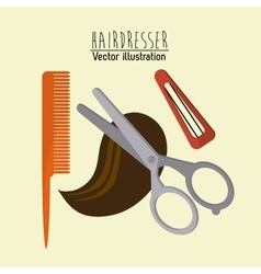 Hairdresser icons design vector image