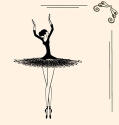 image of a ballerina vector image