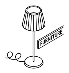 isometric outline furniture 3d line drawn vector image