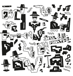 jazz party doodles vector image vector image