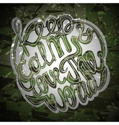lettering White letters written with a vector image