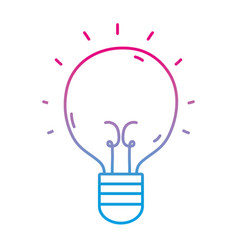 Line light bulb idea to creative invention vector
