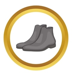 Mens winter boot icon vector image