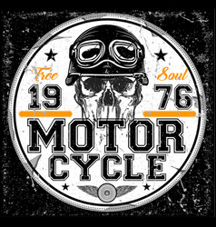 Motorcycle poster t-shirt graphic vector