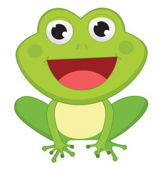 of cartoon frog vector image