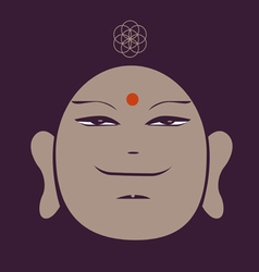 Portrait of the buddha meditative symbol of vector