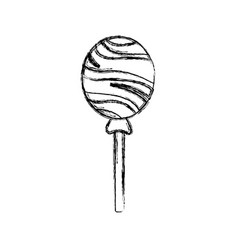 round lollipop candy sweet flavor icon vector image vector image