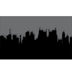 silhouette of the historic town vector image