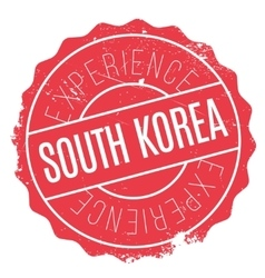 South korea stamp vector