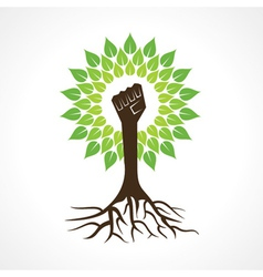 Unity hand make tree vector image