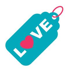 wedding love tag icon vector image