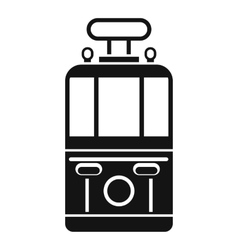 Tram front view icon simple style vector