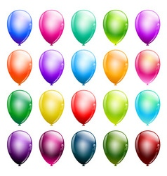 set of glossy balloons vector image