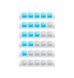 rating from five blue squares vector image