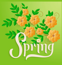 Elegant spring invitation card vector