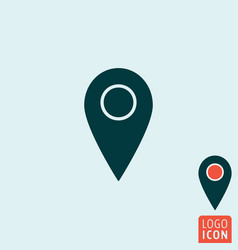 Mark icon map pointer symbol vector