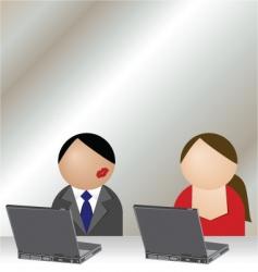 office romance vector image